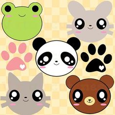 Check out these cute critters, they are prefect to use for almost anything! Check out my shop at: www.etsy.com/shop/virtualcuteness #virtualcuteness #etsy #etsyshop #planner #plannernerd #stickers #sticker #animals #cute #kawaii #critters #paws #panda #bunny #cat #neko #cutestickers #frog #chibi #clipart #vector #art #instaart