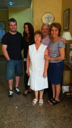My lovely spanish family in Spain, Murcia. In the picture you can see my bosses, a married couple, Jesús and Pilar, their son Jesús Junior and the hotel Alboheras housekeeper Carmencita. I had the best time working with them. Working didn't feel like working with them. They are so relaxed and fun people. The best bosses ever and in Spain! Such a wonderful time that we had. I was their recepionist those two months that went too fast. I'll be back for sure.