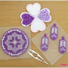 Dreamcatcher perler beads by peggyknitting