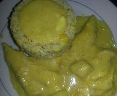 Rezept Hähnchenfilet Hawaii überbacken mit Currysauce und Reis von Mimmi87 - Rezept der Kategorie Hauptgerichte mit Fleisch