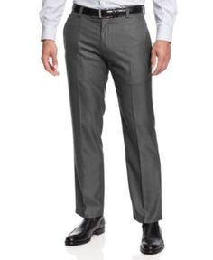 Kenneth Cole Reaction Slim-Fit Sharkskin Dress Pants -