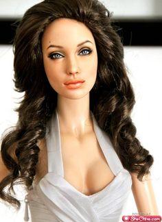 Angelina Jolie doll by artist Noel Cruz