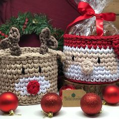 Top Choice Crochet Basket for Christmas This Year Christmas Crochet Patterns, Holiday Crochet, Christmas Knitting, Rena, Crochet Decoration, Craft Fairs, Christmas Presents, Gift Bags, Straw Bag