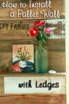 How to Install a Scrap Wood Wall 2019 How_to_Install_Pallet_Wall_Ledges Pretty Handy Girl The post How to Install a Scrap Wood Wall 2019 appeared first on Pallet ideas. Pallet Walls, Pallet Art, Diy Pallet Projects, Wood Projects, Pallet Ideas, Pallet Shelves, Pallet Furniture, Pallet Crafts, House Projects