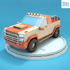 Low Poly Jeep SUV