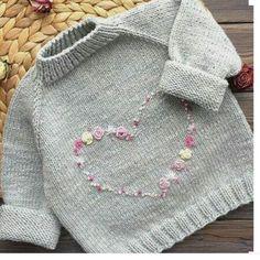 Baby Knitting Patterns Inspiration – Stickerei – (NewBorn Baby Stuff) - - Child Knitting Patterns Inspiration – Stickerei – Baby Knitting Patterns Supply : Inspiration – Stickerei – by noracrochets The post Baby Knitting Patt. Baby Knitting Patterns, Knitting Baby Girl, Crochet Baby Clothes, Knitting For Kids, Crochet For Kids, Crochet Patterns, Knitting Ideas, Beginner Knitting, Easy Knitting