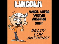 His three words by darrenrosario on DeviantArt All Cartoon Characters, Loud House Characters, Mbti Personality, Three Words, House Party, Assessment, Home Art, Cinema, Deviantart