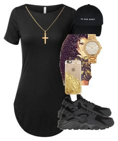 """""""Untitled #183"""" by r0yalkae ❤ liked on Polyvore featuring NIKE, Sterling Essentials, Forever 21 and Casetify"""