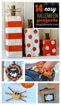14 Easy Halloween Projects | simplykierste.com #crafts #recipe #kids #decorations #printable