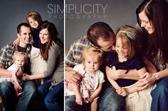 family photography by Simplicity Photography - cute. It would be fun to tell secrets in the kids' ears.
