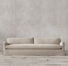 The Pee Belgian Slope Arm Slipcovered Sofa Lengths Depth Height Clearance Needed For Delivery