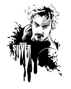 Fandom In Ink >> Quicksilver Art Print by Rebecca Loomis - X-Small Poster Avengers, Avengers Symbols, Avengers Characters, Marvel Wolverine, Marvel Art, Quicksilver Avengers, Thor, Avengers Drawings, Hulk Art