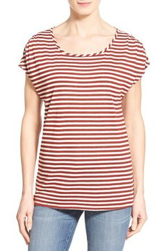 Gibson Gibson Cold Shoulder Stripe Tee available at #Nordstrom