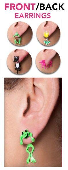 Trend Alert: Front /Back Earrings!