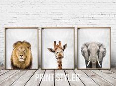 Items similar to Nursery Art - Safari Nursery Prints - Wall Art Prints - Safari Wall Art - Safari Animals on Etsy Safari Nursery, Animal Nursery, Nursery Prints, Nursery Wall Art, Wall Art Prints, Nursery Ideas, Nursery Decor, Safari Theme, Look At My