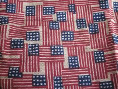 Longaberger Basket Liner New Old Glory Flag Red White Blue Made USA Bee 2002  #Longaberger