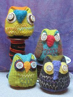 Sue Spargo's owls.