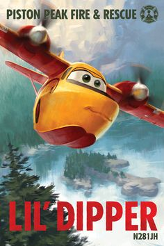 Outgoing Dipper skims lakes and hauls water to help the heroes fight fires. Get to know Lil' Dipper in Disney's Planes: Fire & Rescue, soaring into theaters in ONE WEEK.