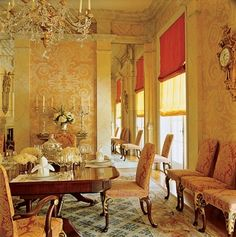 perfect yellow toile walls..