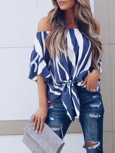Cheap Blouses Shirts, Buy Directly from China Suppliers:Women Striped Off Shoulder Blouse Summer Women Blouse Short Sleeve Casual Shirts Sexy Camisas Mujer Tops Pullover Dames Kleding Striped Off Shoulder Top, Off Shoulder Tops, Off Shoulder Blouse, Cold Shoulder, Sexy Shirts, Casual T Shirts, Casual Tops, Casual Pants, Chemises Sexy