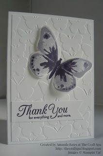 The Craft Spa - Stampin' Up! UK independent demonstrator : CAS Watercolour Wings