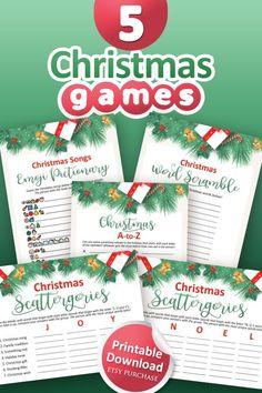 Printable Christmas Games, Fun Christmas Games, Thanksgiving Games, Christmas Words, Christmas In July, Kids Christmas, Christmas Birthday, 21st Birthday, Bridal Party Games