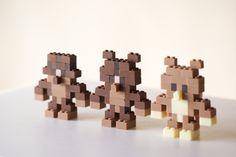 組み立ても可能。チョコレートで出来たレゴブロックが面白そう! | IDEA HACK