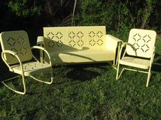 Last year about this time I did a post on Vintage Gliders and to tell you    Vintage Patio FurnitureLawn  Vintage Metal Lawn Chair  1950s Retro Patio Summer Chairs  . Antique Motel Chairs. Home Design Ideas