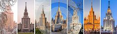 Almost whole spectra of various views of Moscow University for the entire year