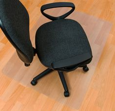 EcoTex Hard Floor Rectangular Edge Chair Mat