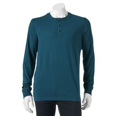 Men's Croft & Barrow® Classic-Fit Easy-Care Henley, Size: