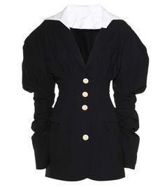 La Robe Sainte black wool dress
