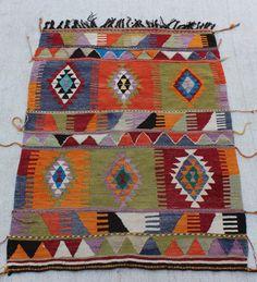 small rug VINTAGE Kilim primitive pattern rug   Rug Area Rug, Diamond Kelim Carpet Floor Rug 51''x38'' / 130 x98cm  Handmade Wool Kilim Rug