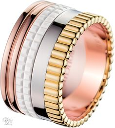 Brilliant Luxury * Boucheron Paris ~ Quatre White Edition Large Ring