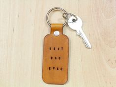 Best Dad Ever Keychain  Leather Best Dad by TinasLeatherCrafts. Repin To Remember.