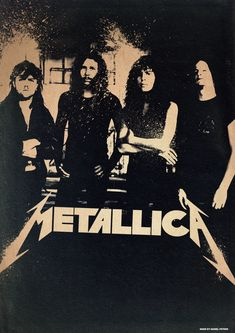 Band Poster: 90's Metallica by ~elcrazy on deviantART