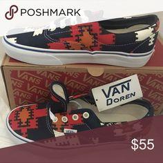3076f8d457 vans era(van doren)peacoat geo native 8 14 Vans Shoes Sneakers