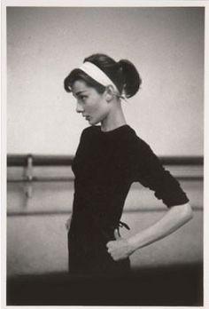 audrey in a ballet studio
