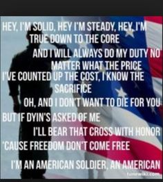 My favorite song for Memorial Day: Toby Keith ~ American Soldier ❤️