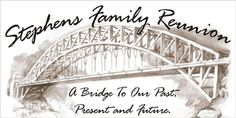 Decorate your next family reunion with this big, reunion banner by www.bannergrams.com