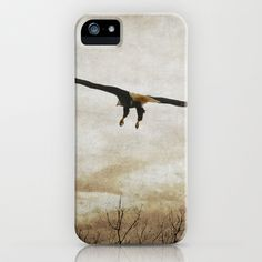 Home Safely - Bald Eagle in Flight iPhone & iPod Case by Jai Johnson - $35.00 #eagle #bird #nature #wildlife #flying #art