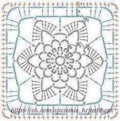 Transcendent Crochet a Solid Granny Square Ideas. Inconceivable Crochet a Solid Granny Square Ideas. Crochet Motif Patterns, Crochet Blocks, Granny Square Crochet Pattern, Crochet Diagram, Crochet Chart, Crochet Squares, Motifs Granny Square, Sunburst Granny Square, Granny Squares
