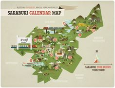 Guide to Saraburi by Chinapat Yeukprasert, via Behance