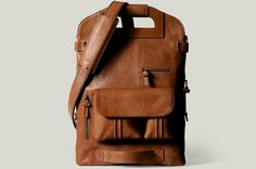 "2Unfold Laptop Bag ($655) - holds a 17"" or a 13"" when folded in two"