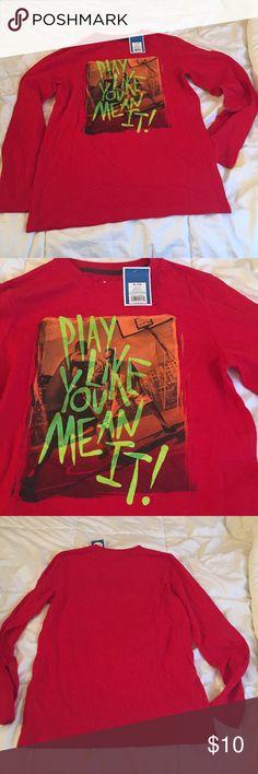 NWT Boys Long Sleeve BBall Shirt Long sleeve tee shirt says Play Like You Mean It. NWT XL = 16 Circo Shirts & Tops Tees - Long Sleeve