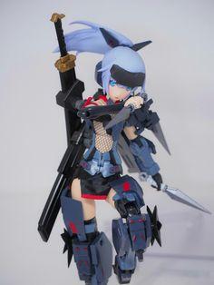 Frame Arms Girl Jinrai custom by ShiketanBuilder on Twitter  https://twitter.com/ShiketanBuilder/status/828100799041458176