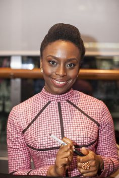 Chimamanda Ngozi Adichie at the the Schomburg Center, 2014.
