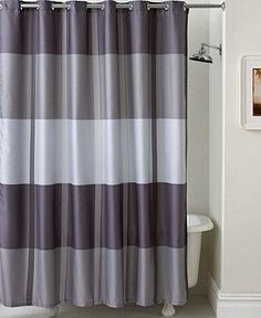 Under $55: Add a splash of color to your bath with a striped Martha Stewart Collection Shower Curtain