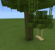 Minecraft Tree House Swing Set