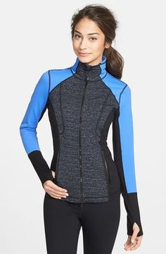 Zella 'Luxe Mix' Space Dye Jacket available at #Nordstrom
